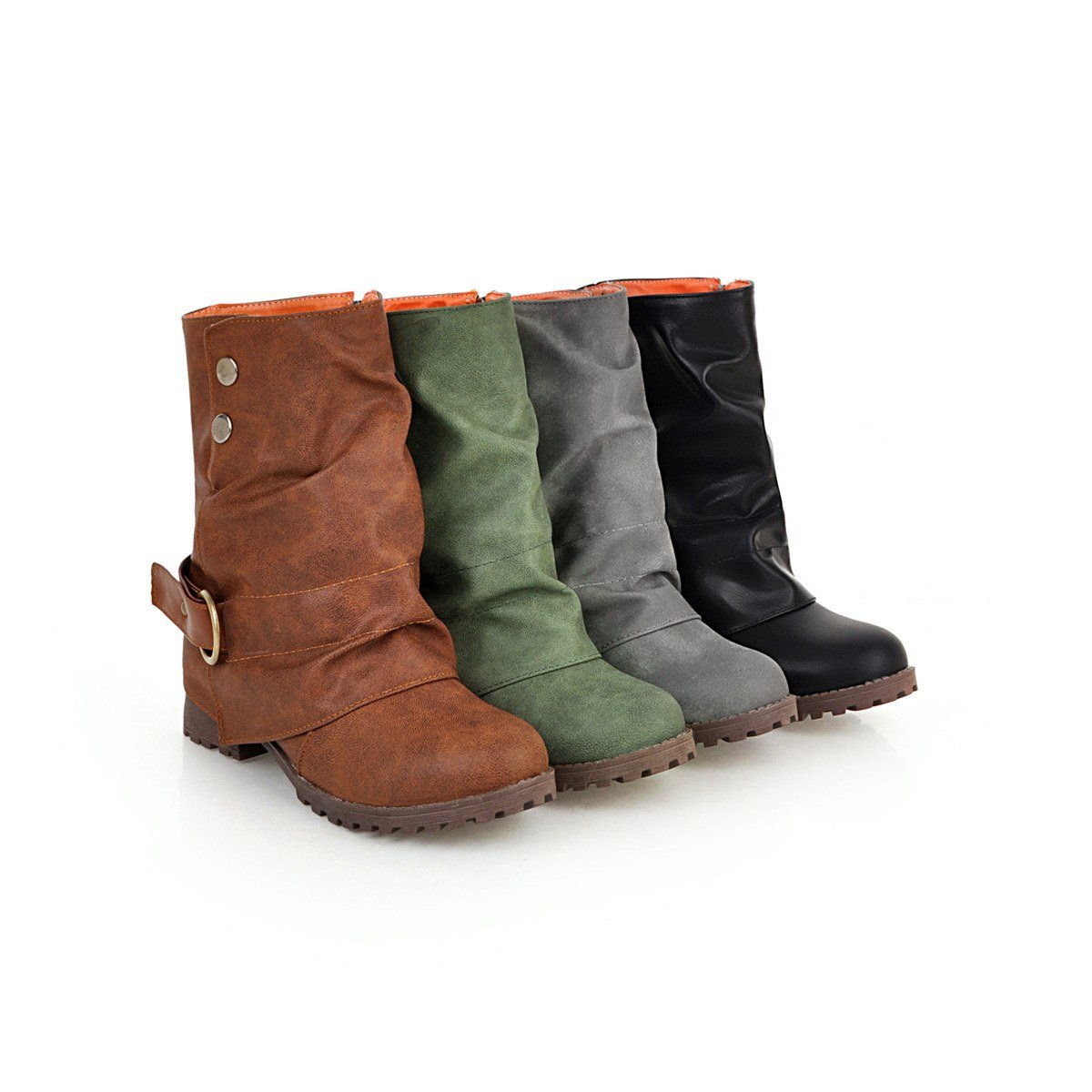 Casual Large Size Square With Women's Boots