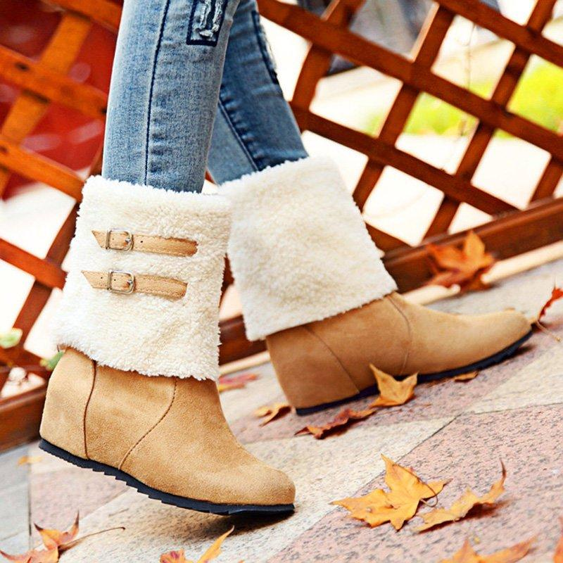 Plus Size Casual Snow Boots
