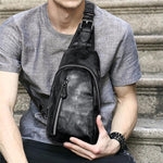Men PU Leather Outdoor Casual Crossbody Bag