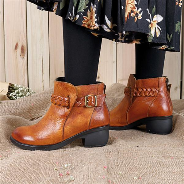 e3c25300e58a Vintage Ethnic Casual Leather Women s Boots – fayfio