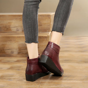 Leather Casual Retro Comfortable Platform Boots