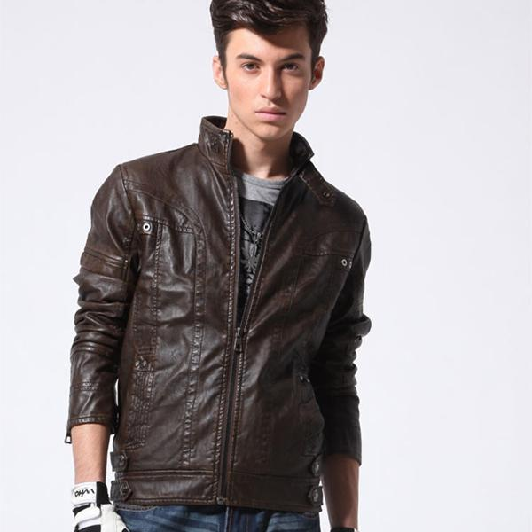 New Arrival  Men's Motorcycle  Leather Jackets Coats