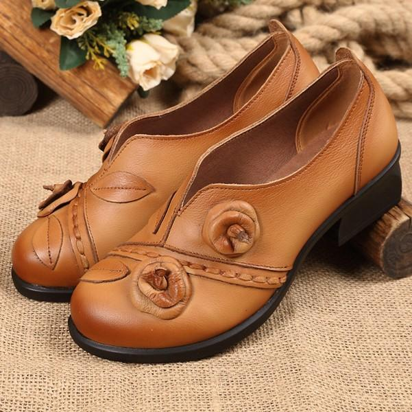 Women's Ethnic Style Retro Leather Shoes