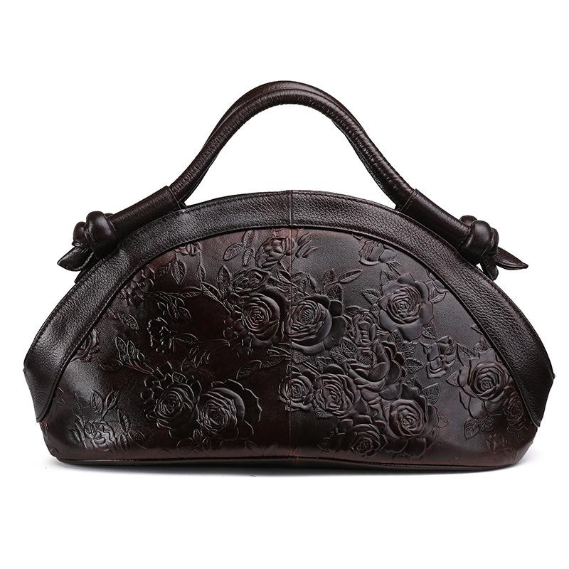 Women's Wax Leather Genuine Leather Retro Shoulder Bags