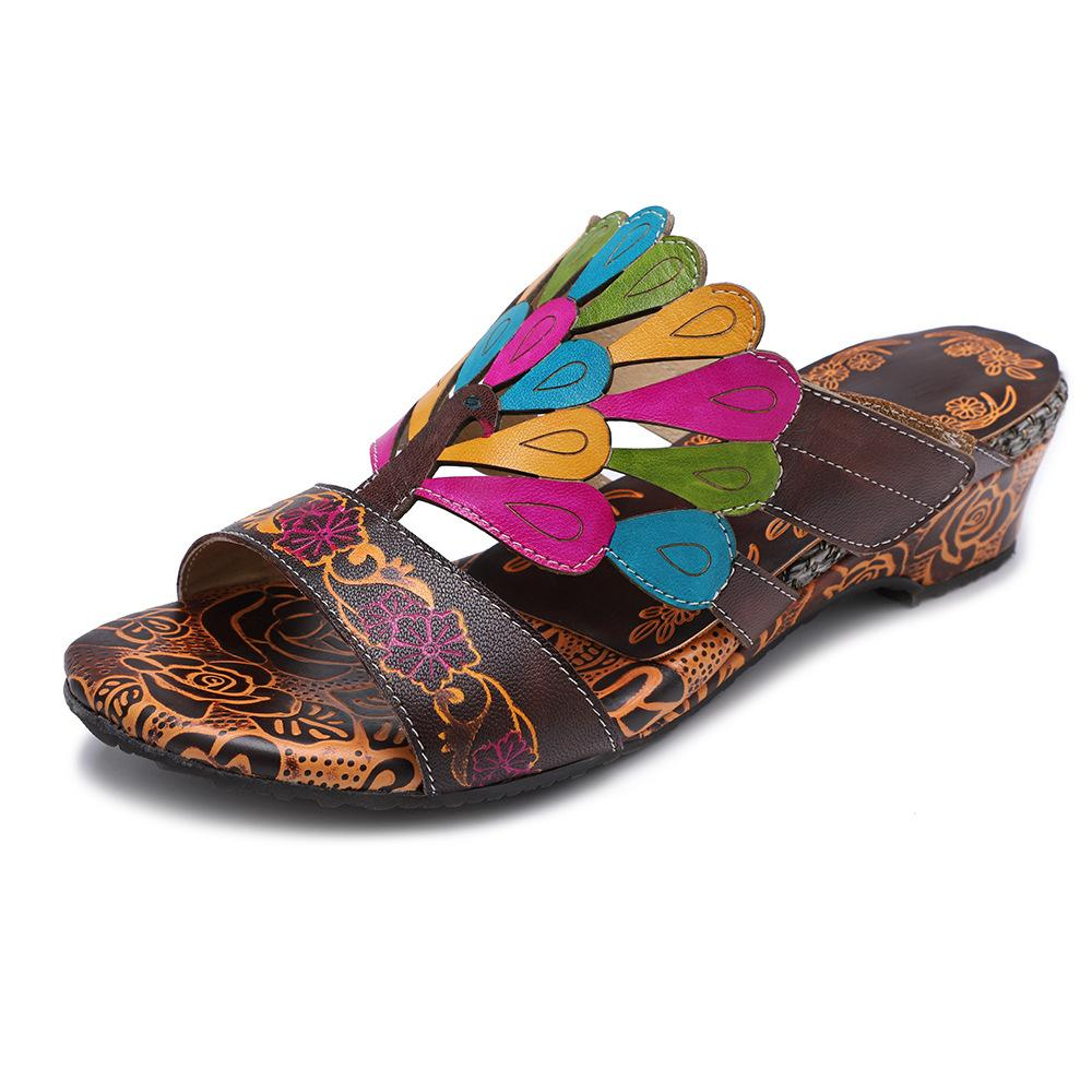 Presale 2019 Boho Retro Peacock Handmade Sandals