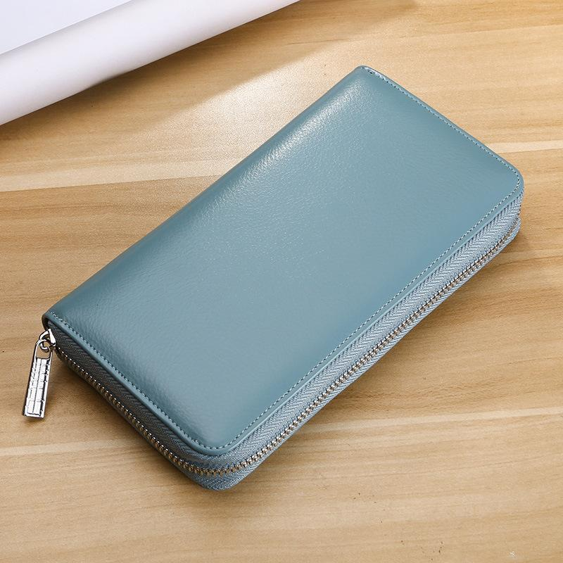 Women's Genuine Leather Multi-Function Large Capacity Card Wallet