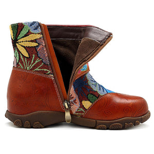 Leather Retro Women's Boots