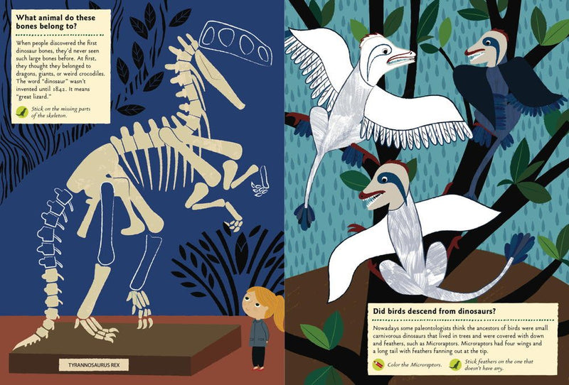 In the Age of Dinosaurs: My Nature Sticker Activity Book