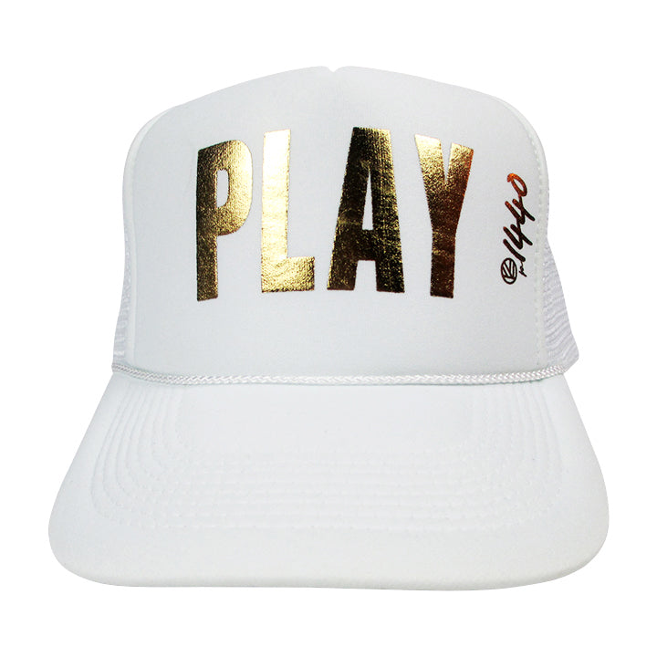 360 Hat Foam Front PLAY Gold