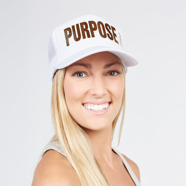 360 Hat Foam Front PURPOSE Gold
