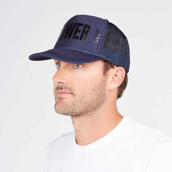 360 Hat Foam Front POWER Dark Blue