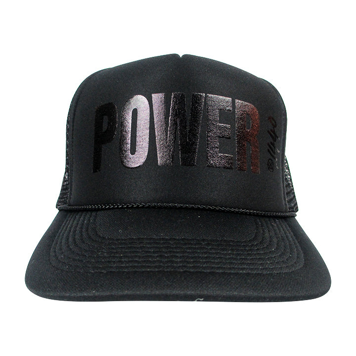 360 Hat Foam Front POWER Black