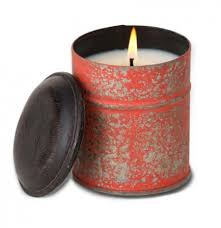 Himalayan Candle GINGER PATCHOULI Burnt Orange Spice Tin