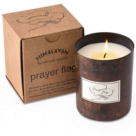 Himalayan Candle PRAYER FLAG Dharamsala 18oz