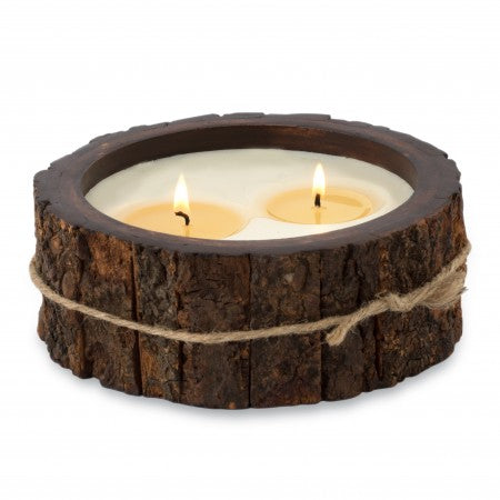 Himalayan Candle GINGER PATCHOULI Tree Bark Candle Pot 26 oz