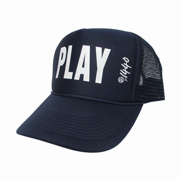 360 Hat Foam Front PLAY White
