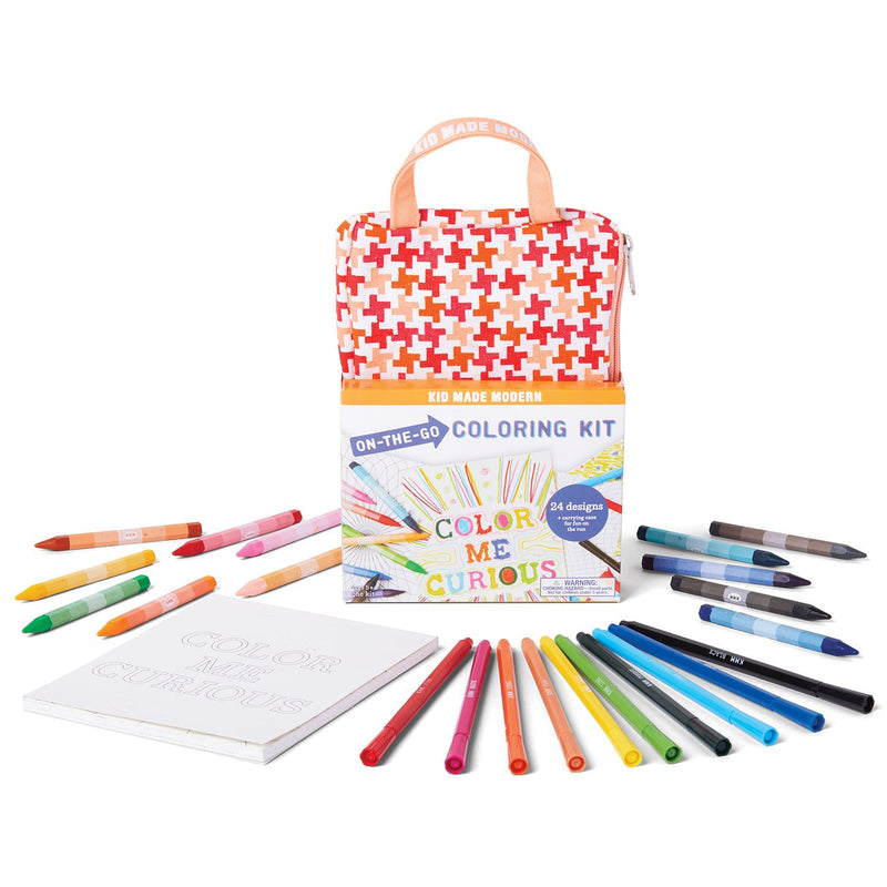 Kid Made Modern On-The-Go Drawing Kit Pink