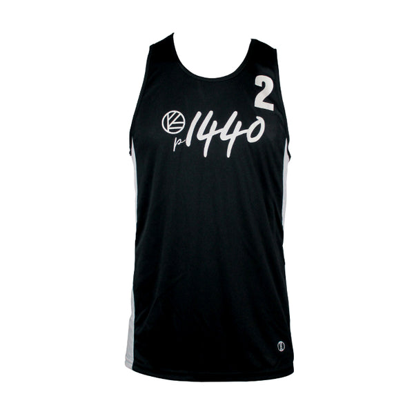 Men's Athlete Jersey Tank #2 - Black/White