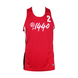 Men's Athlete Jersey Tank #2 - Red/Black/White