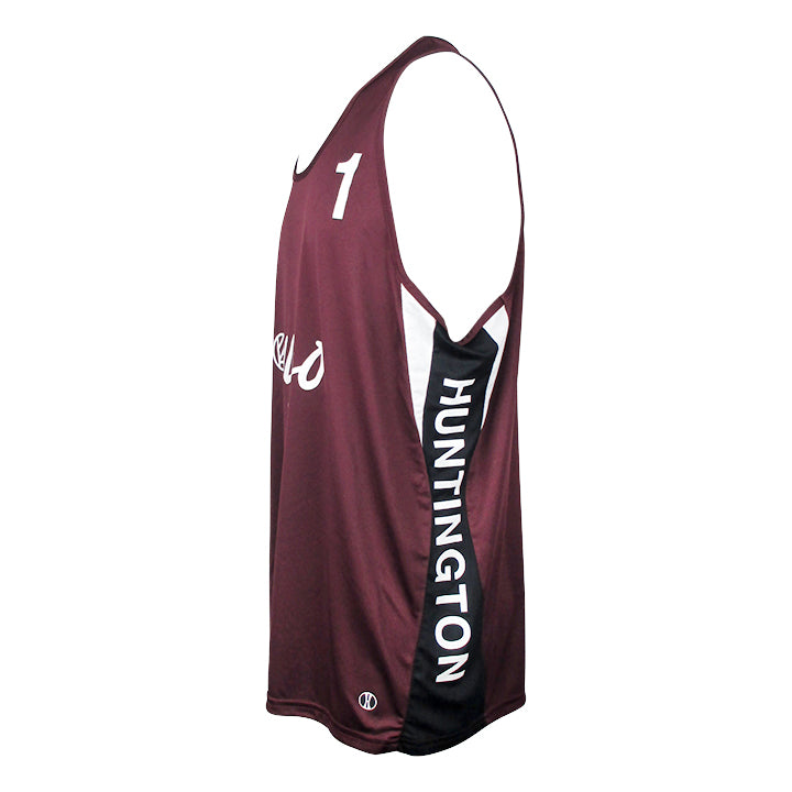 Jersey Pro Huntington #1 - Maroon/Black/White