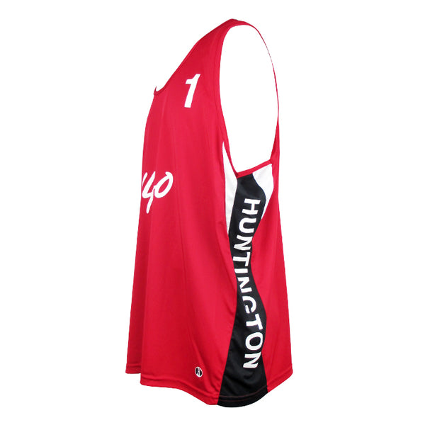 Jersey Pro Huntington #1 - Scarlet Red/Black/White