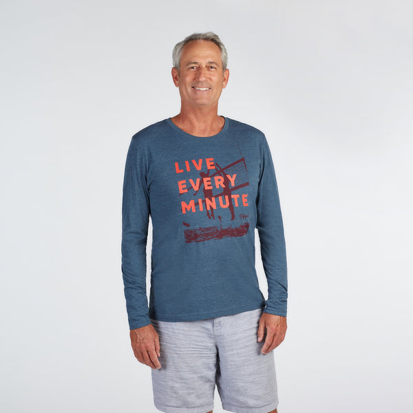 Live Every Minute Volleyball Net Long Sleeve