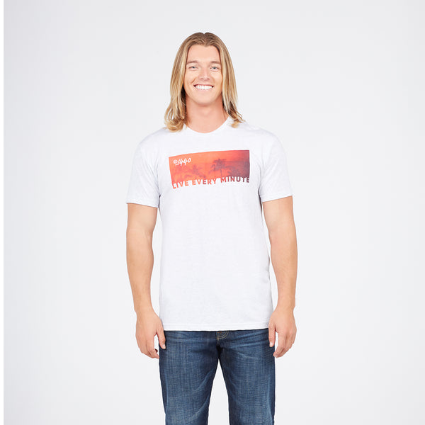 Live Every Minute Sunset Palm Tree T-Shirt