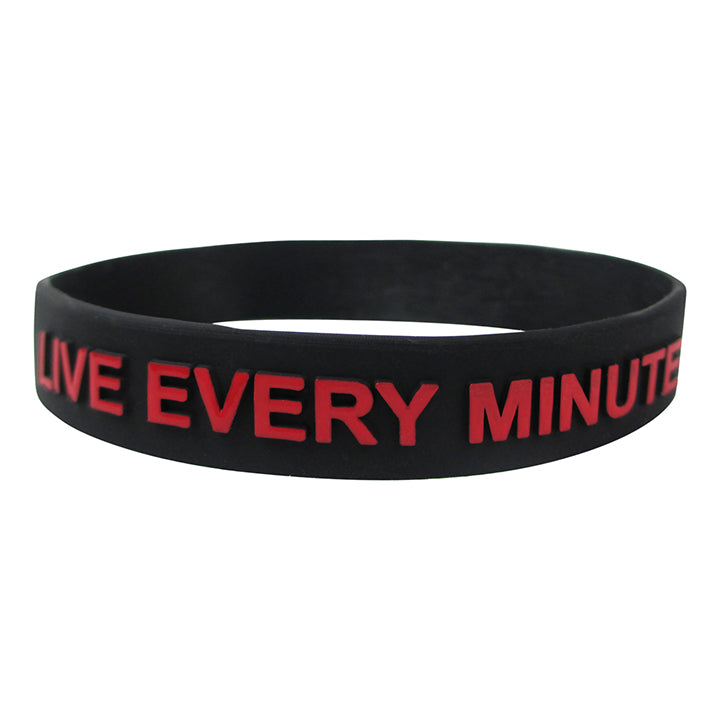 Silicone Wristband p1440 LIVE EVERY MINUTE