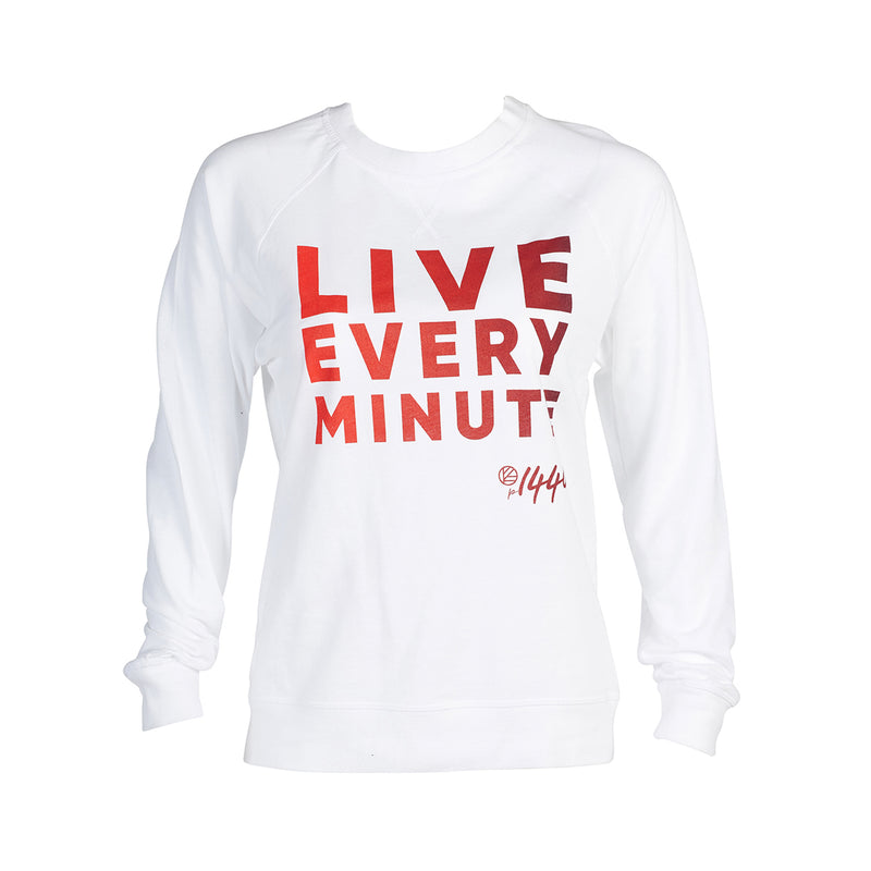 Live Every Minute Ombre French Terry Sweatshirt