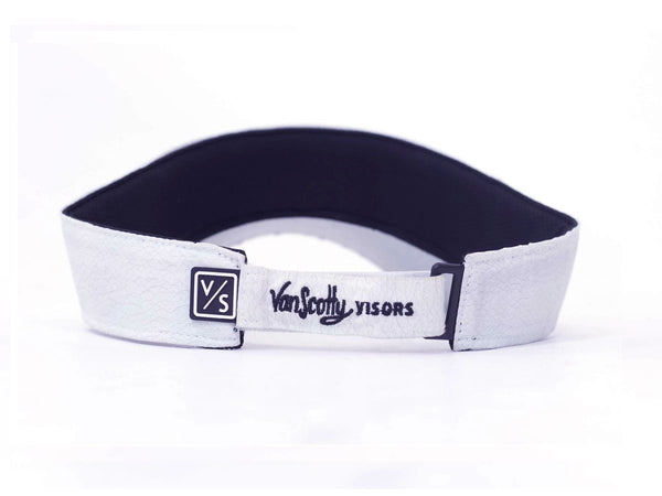 VanScotty Visor-White Leather