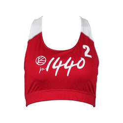 Pro Bra Huntington #2-Scarlet Red/White