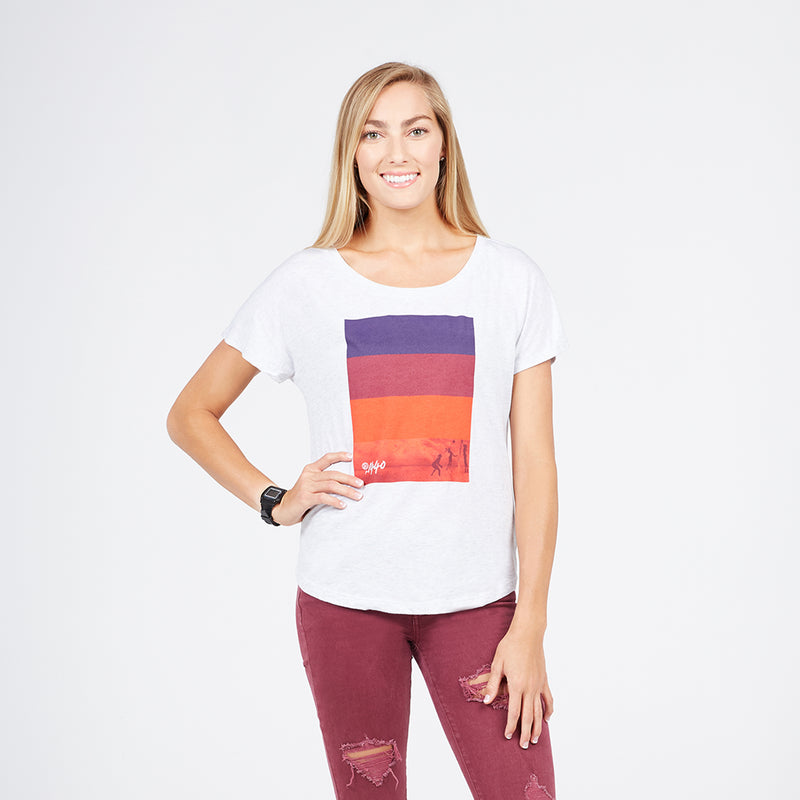 Colorblock Spectrum Dolman Tee