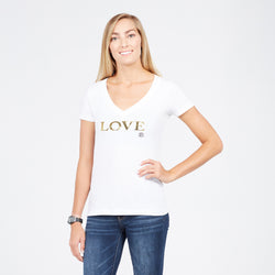 Kerri Gold LOVE Vneck T-Shirt
