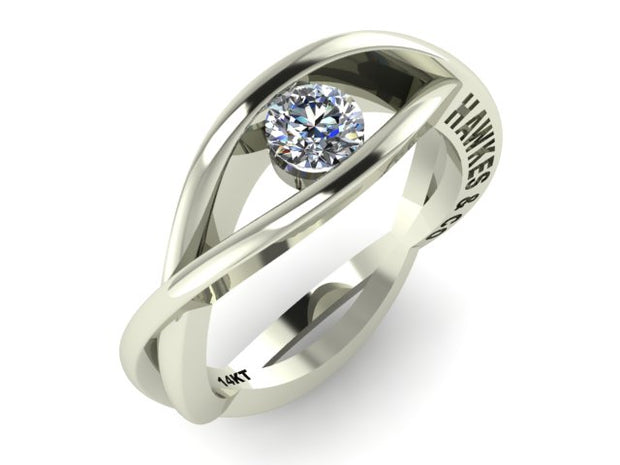 Entwined Bands of Love Ring