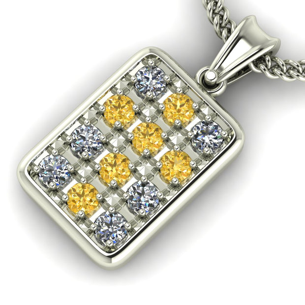 Bed of Diamonds Cross Pendant