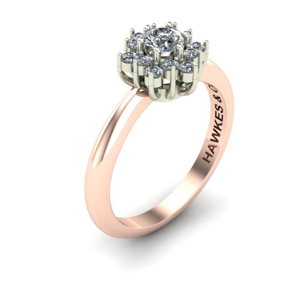GOLD DIAMOND BOUQUET RING