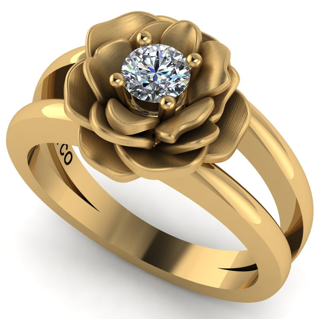 Gabriella's Rose Ring (Ready To ship), Yellow Gold