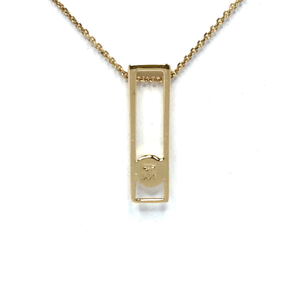 Gold-in-Quartz Pendant Necklace Jewelry - Rectangle Round Inlay Design Pendant - Superior Quality Quartz - James Hawkes Designs - Hawkes and Co