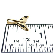 Whale Tail Pendant Realistic Design 14k Yellow Gold