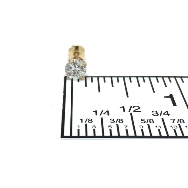 .62ctw Round Brilliant Cut Diamond Screw Back Stud Earring
