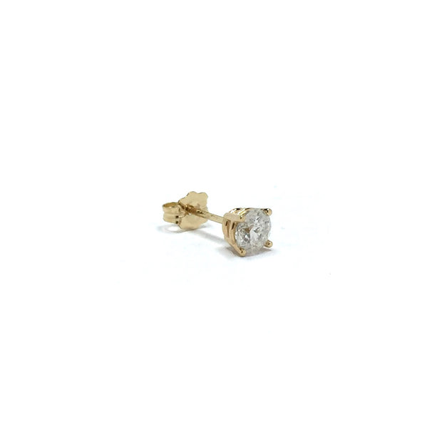 .35ct Round Brilliant Cut Diamond Stud Earring