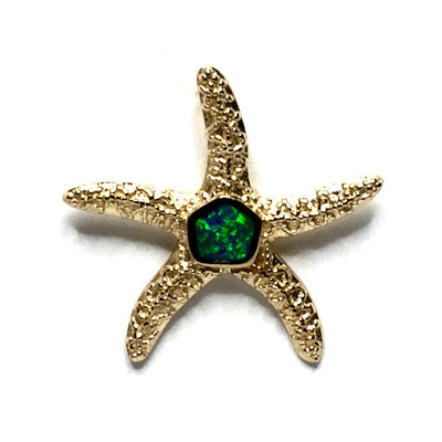 SUPERIOR QUALITY OPAL INLAID STARFISH PENDANT