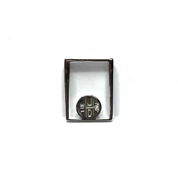 ONYX ROUND INLAY RECTANGLE DESIGN PENDANT