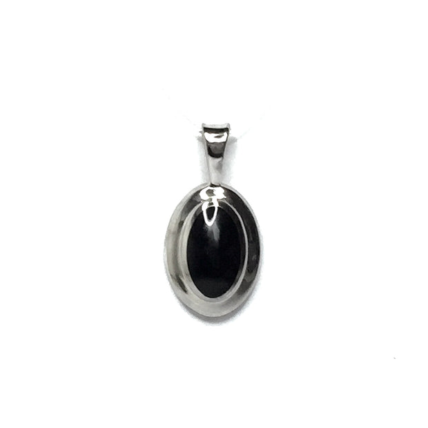 ONYX OVAL INLAID PENDANT