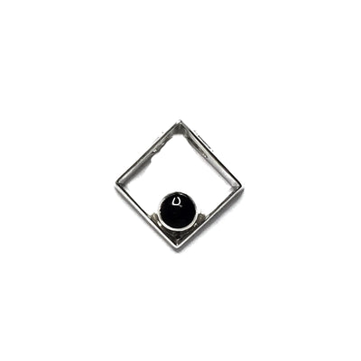 ONYX ROUND INLAY DIAMOND DESIGN PENDANT