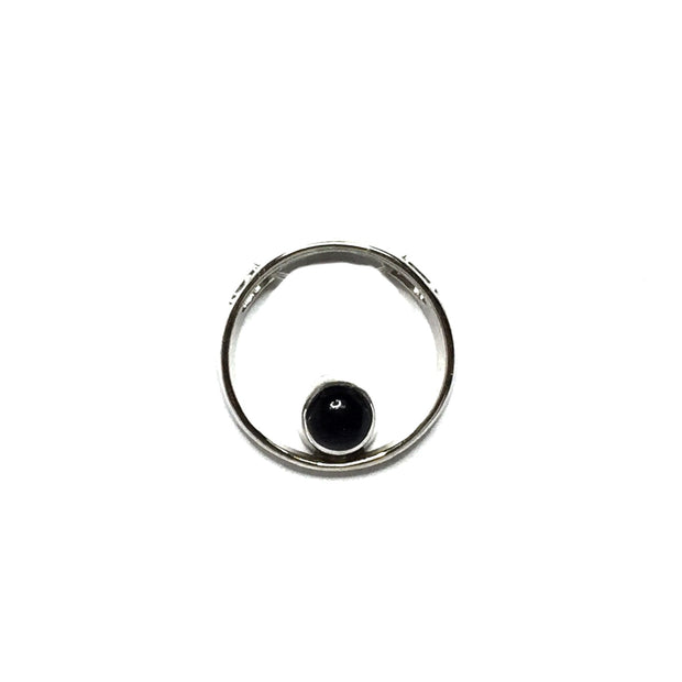 ONYX ROUND INLAY CIRCLE DESIGN PENDANT