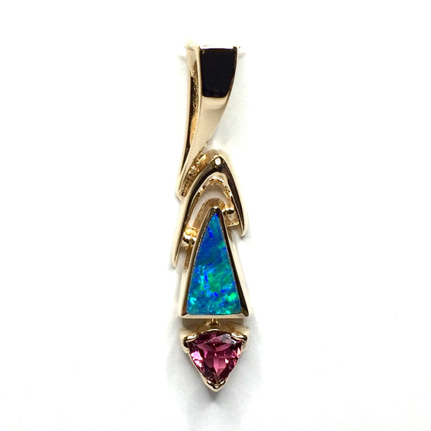 SUPERIOR QUALITY OPAL INLAID PENDANT