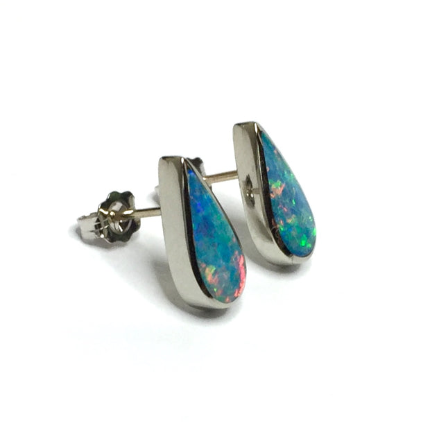 SUPERIOR QUALITY OPAL TEAR DROP INLAID EARRINGS