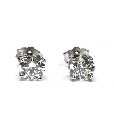 .64CTW ROUND BRILLIANT CUT DIAMOND STUD EARRINGS
