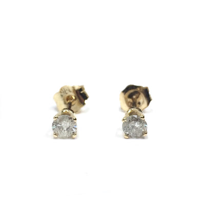 .30CTW ROUND BRILLIANT CUT DIAMOND STUD EARRINGS